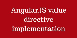 AngularJS value directive implementation