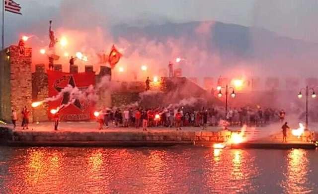 «Κάηκε» η Ναύπακτος για την ιστορική άνοδο του Ναυπακτιακού στη Γ' Εθνική (φάσεις-πανηγυρισμοί)
