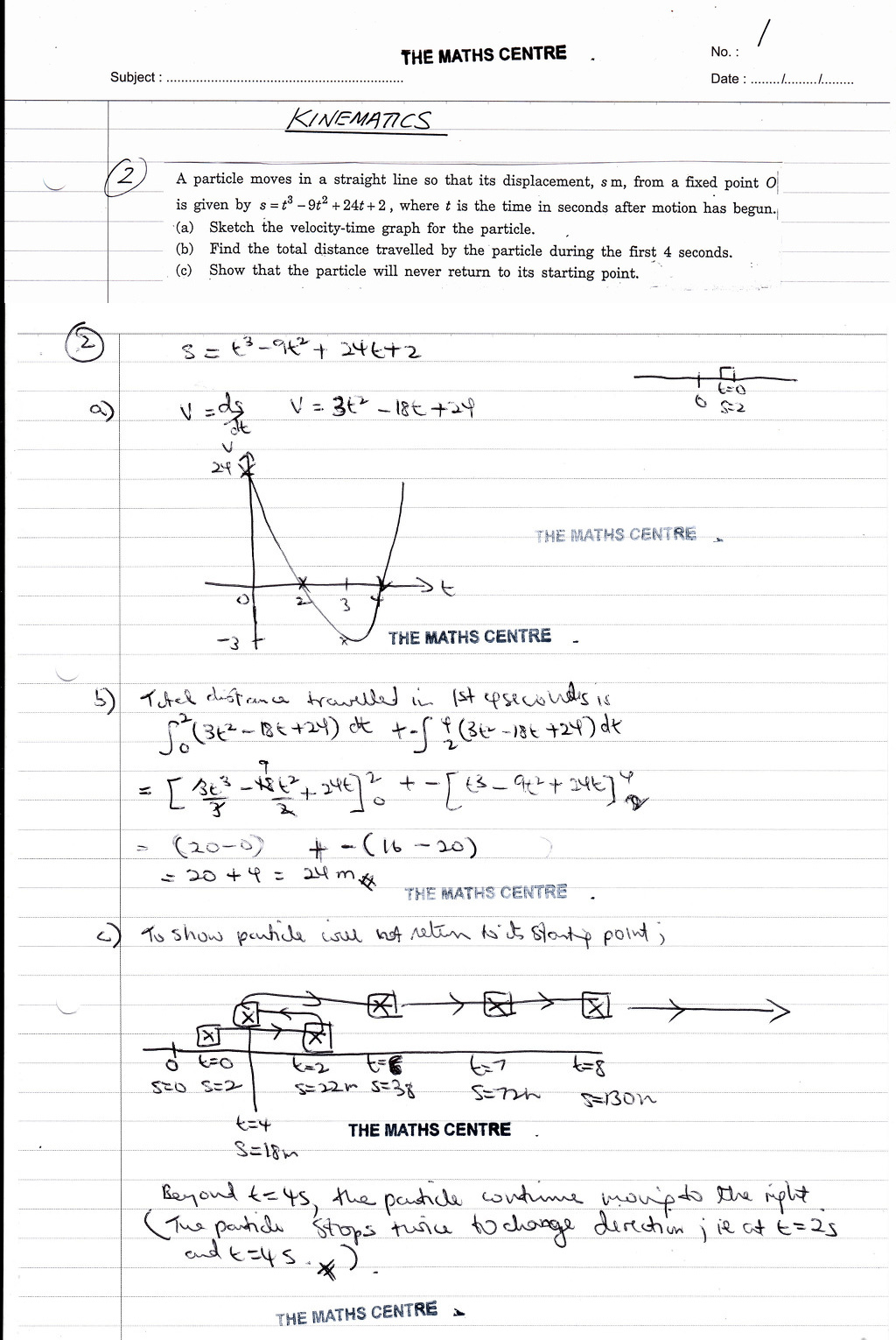 Kinematics Worksheet O Level