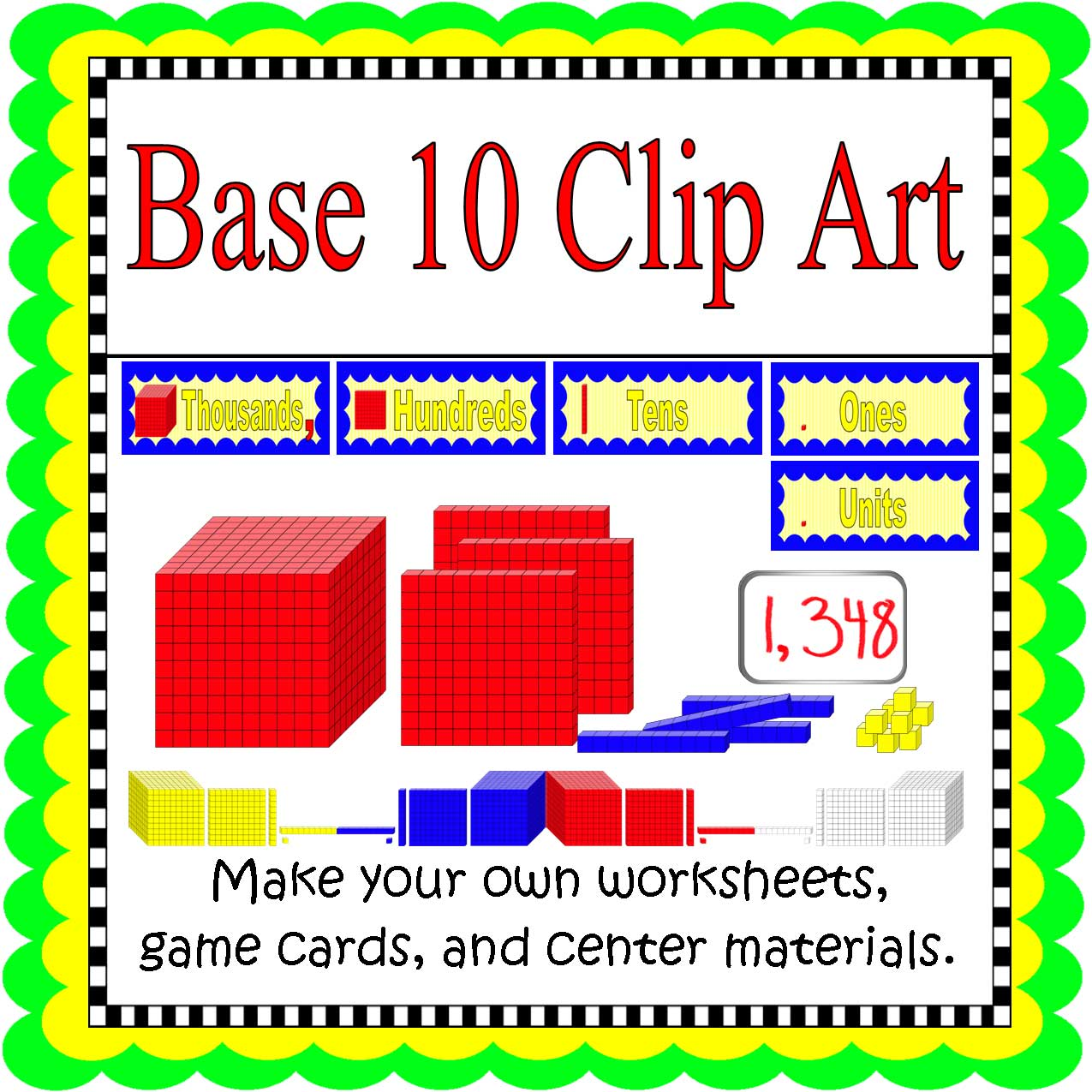 Back To School Freebie Base Ten Clip Art