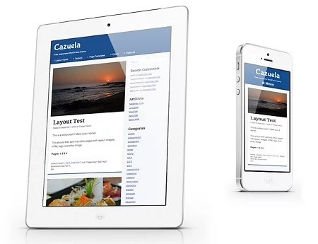Cazuela Theme, Responsive and Retina Ready