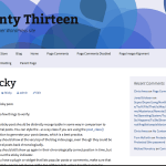 Blue Twenty Thirteen WordPress Child Theme