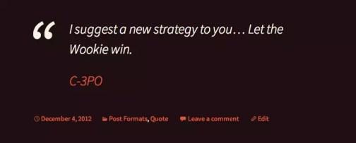 Quote post format in Twenty Thirteen