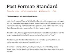 Standard post format in Twenty Thirteen