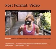 Video post format in Twenty Thirteen