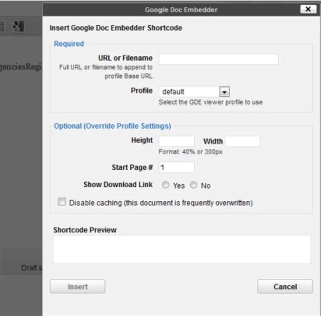 Google Doc Embedder WordPress Plugin