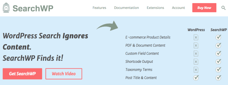 SearchWP WordPress Search for visitors and developers.