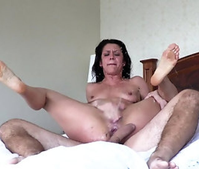 Hairy Cougar Milf Gets Her Ass Destroyed Hard In Bed