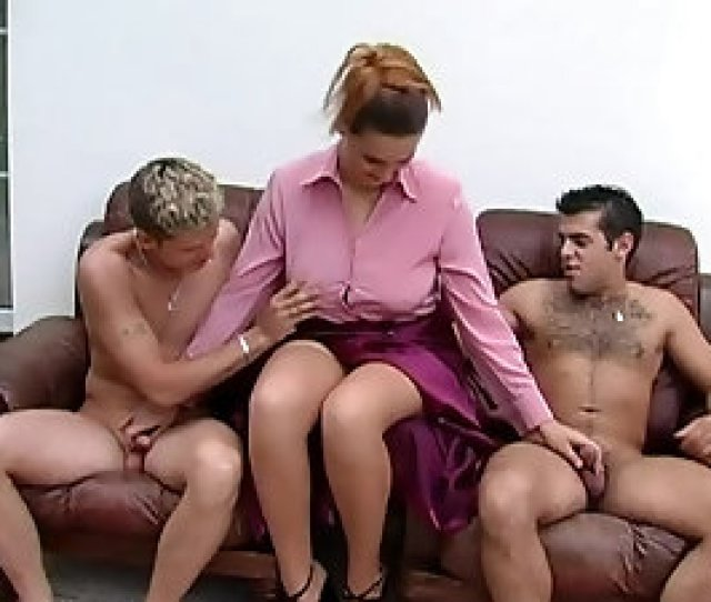 Clothed Mature Chick Takes A Piss And Sucks Two Boners