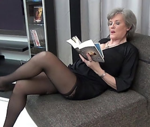 Mature Granny In Stockings Birgitta K Masturbates And Toys Herself