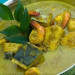 Kingfish and Shrimp Coconut Curry