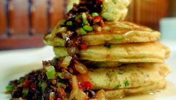 Mini pancakes the maya kitchen stuffed chorizo pancake ccuart Image collections