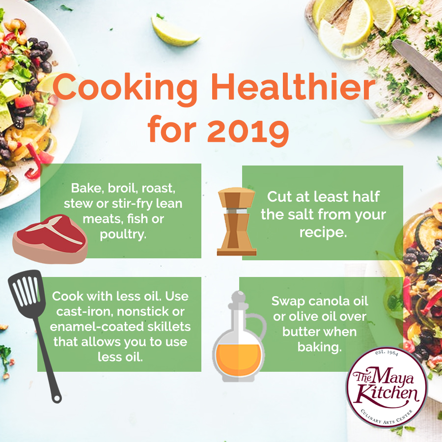 Cooking Healthier for 2019 | The Maya Kitchen