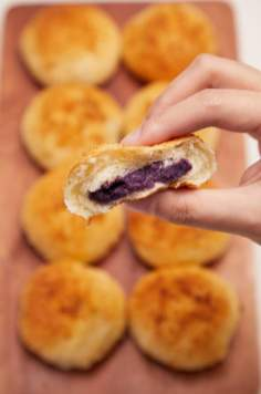 Cheese Bread With Ube Filling