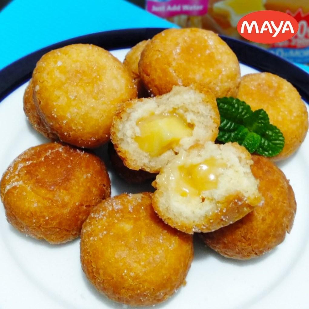 Cheesy Custard Filled Donut Holes