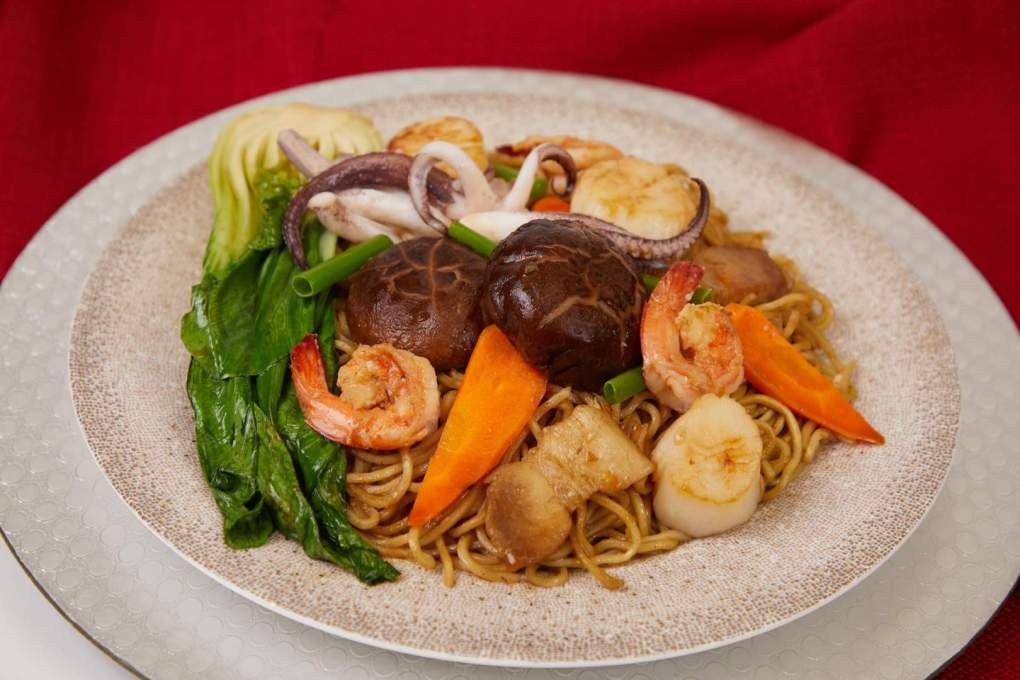 Seafood Longevity Chinese Noodles