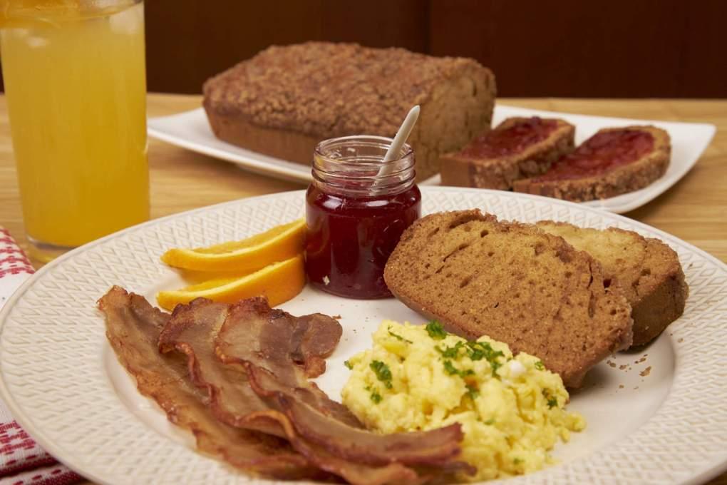 Cinnamon Pancake Bread with Nuts Streusel