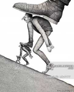 You don't get anywhere without stepping on some people.