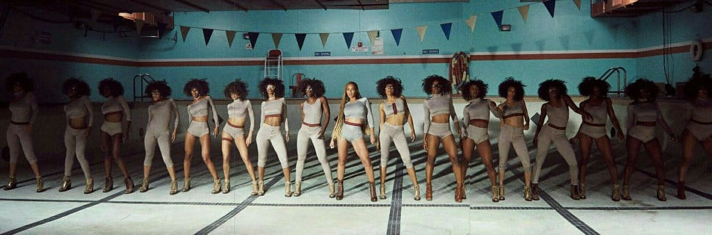If she's white put her in the light, if she's black put her in the back. YUP! Formation looks the same to me.
