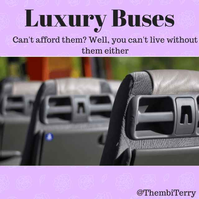 Luxury Buses: Can't Afford Them, But Can't Live Without Them