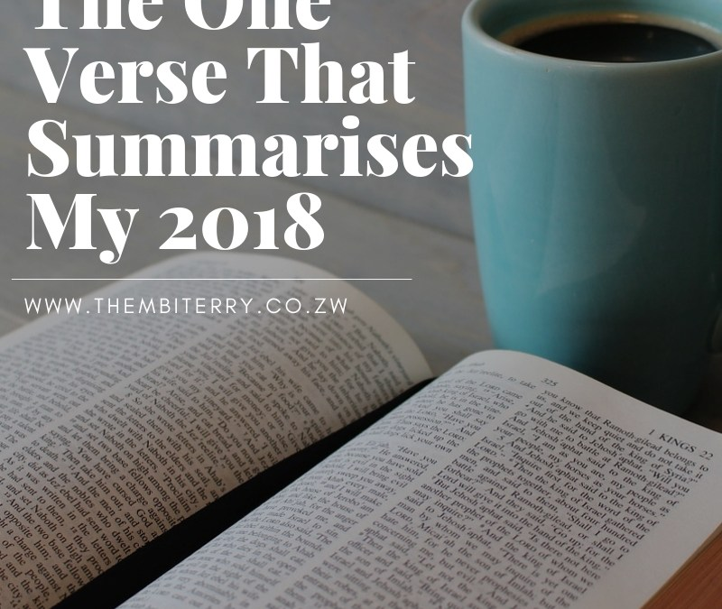 The One Verse That Summarises My 2018