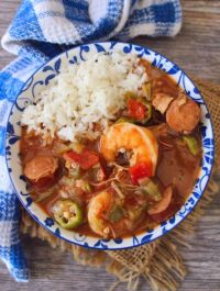 This amazingly flavorful Shrimp Gumbo recipe uses the masterpiece of all sausages spicy andouille sausage with shrimp, chicken, and traditional rice. The method is so simple and straightforward; you're going to wonder why you have waited so long to make it.