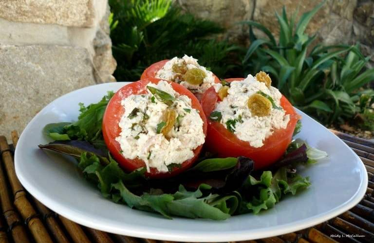 Italian Chicken Salad in Tomato Cups