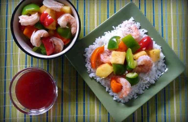 Light Sweet and Sour Shrimp