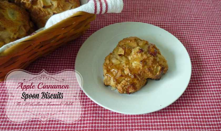 Apple Cinnamon Spoon Biscuits