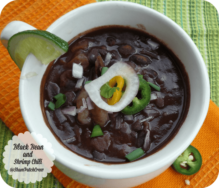#BlackBean and #Shrimp Chili The Chili Trilogy #chili #blackbeans #northernbeans #redbeans