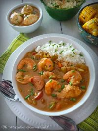 """Creole Gumbo has a mystifying flavor all of its own, the kind of delicious flavor you don't mind drowning in. You might suddenly find yourself murmuring """"Laissez les bonus temps rouler"""" smacking your lips in pure unadulterated sheer delight."""