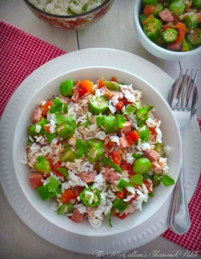 #NOLA #CreoleTomatoes #Okra and #Rice 1