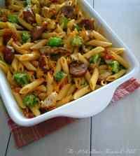 Cajun Inspired Chicken & Andouille Penne Pasta 1