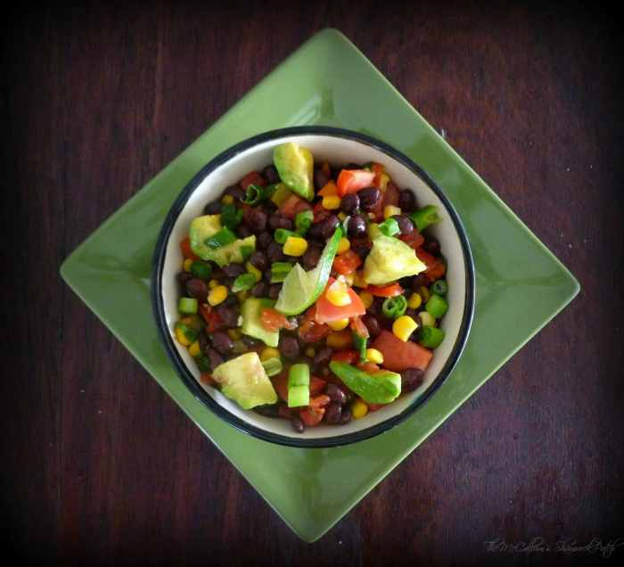 #BlackBean #Avocado #Salsa with #Corn and #Pineapple
