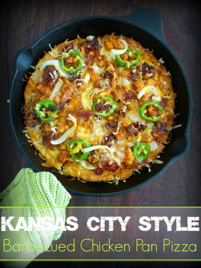 Kansas City Style BBQ Chicken Pan Pizza