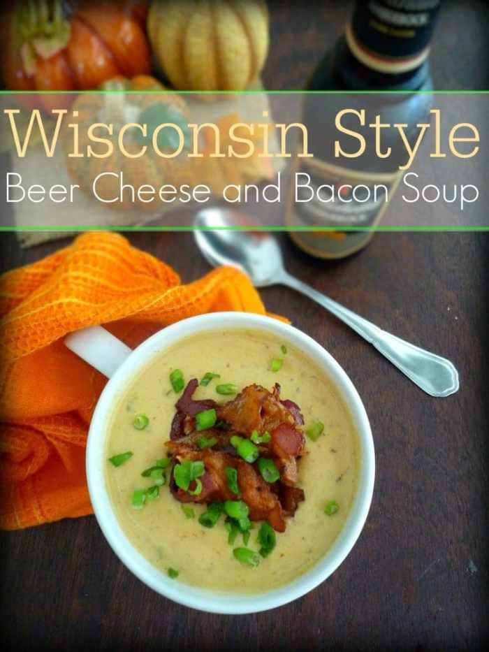 there's nothing like a wonderful steaming bowl of a Wisconsin Style Beer Cheese and Bacon Soup
