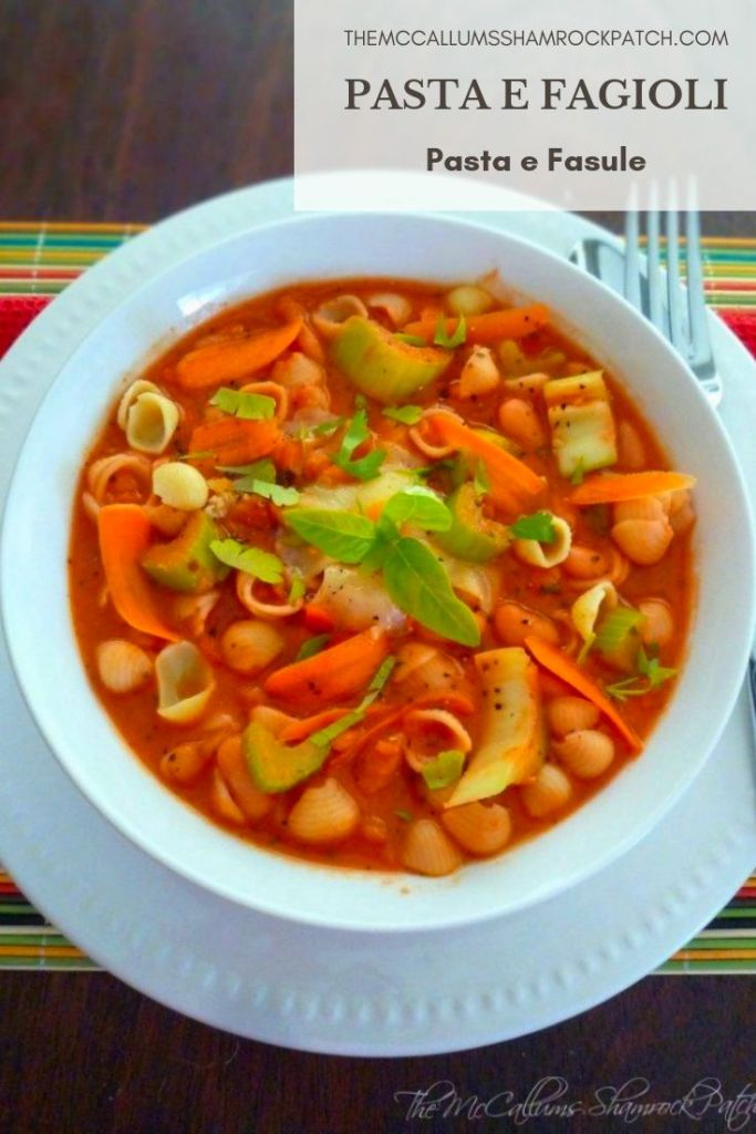 This recipe is simply one of the best recipes for a more authentic Pasta e Fagioli and was graciously handed down several generations of the Yarusso Family, finally to be given my Friend Tricia from her lovely Mother in law when she married her husband Louie.