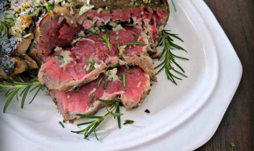Perfect Rare Herb Crusted Ribeye Roast