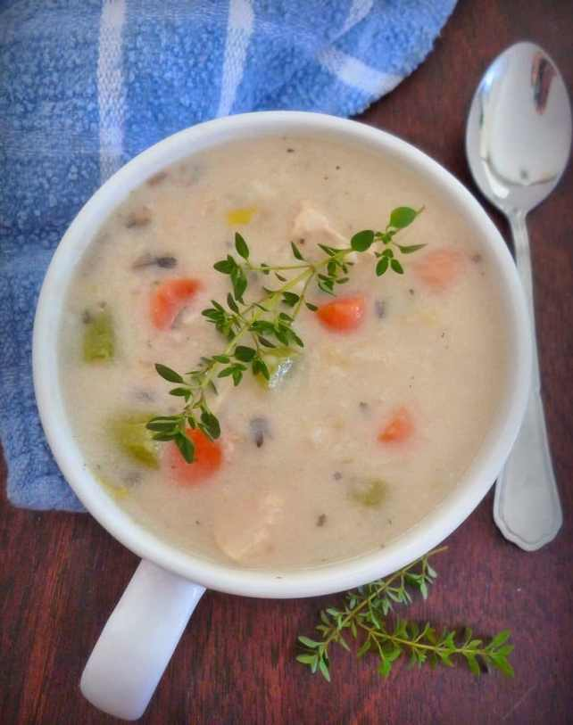 Creamed Chicken Soup- Chunky Style
