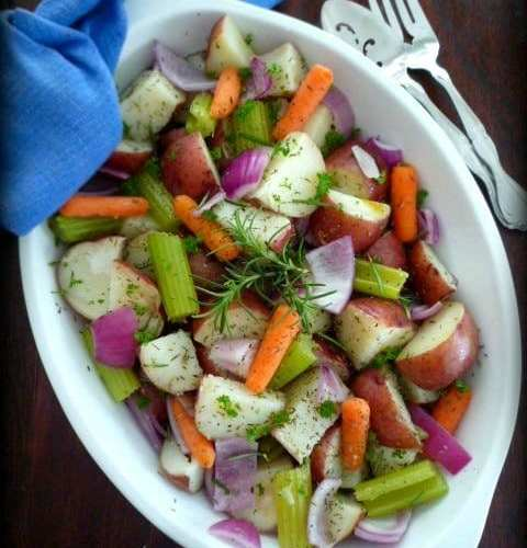 Easy Steamed Herb Potatoes & Vegetables