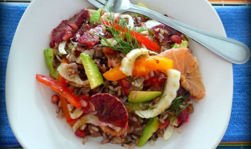 Healthy Wild Rice & Citrus Salad