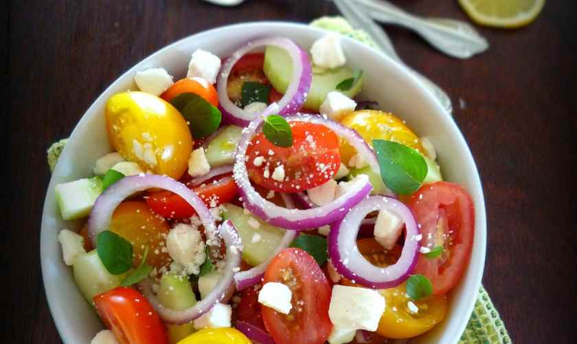 Tomato Feta Mint Salad