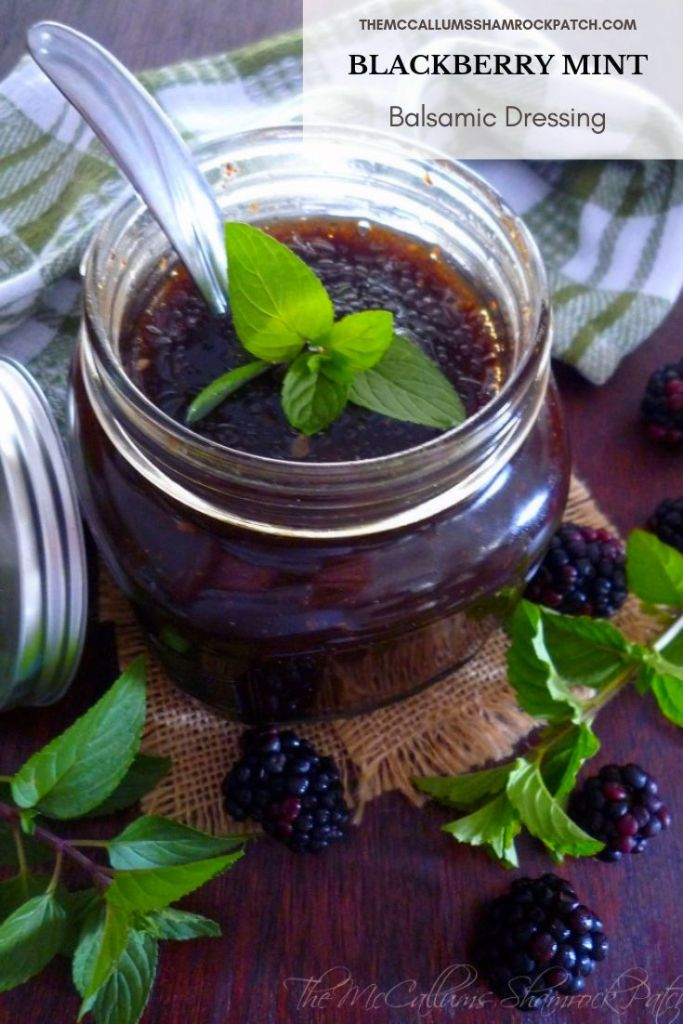 Blackberry Mint Balsamic Dressing