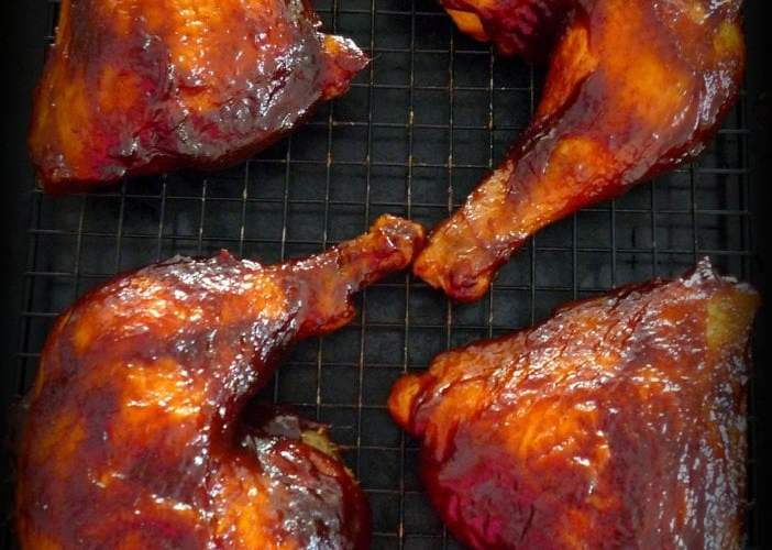 Simple BBQ'd Chicken Leg Quarters