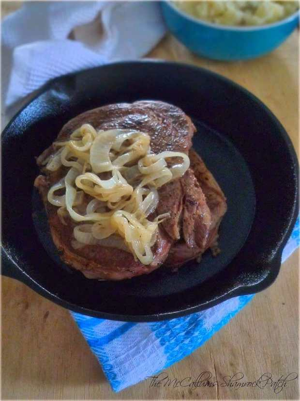 Cast Iron Cooked Ribeye Steaks
