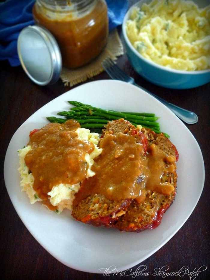 This recipe for Cajun Meatloaf; isn't mom's plain old meatloaf folks, this meatloaf is pure Cajun Mom's comfort food kicked up several notches with Cajun Seasoning, cayenne pepper, Crystal hot sauce, a Holy Cajun Trinity, finely chopped carrots, all mixed in with lean ground beef and quality ground pork, glazed to perfection with spicy ketchup then baked in a 350 degree oven till perfectly done.