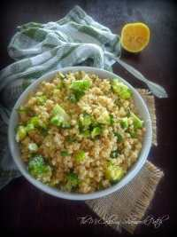 Quinoa with Parmesan Cheese and Broccoli