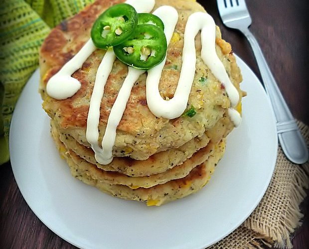 Southern Potato and Corn Fritters with Jalapenos