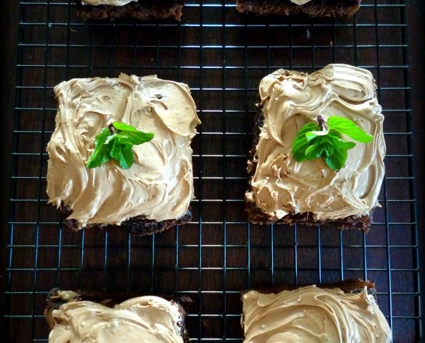 Irish Inspired Black and Tan Brownies
