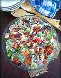 Spinach and Bacon Pasta Salad